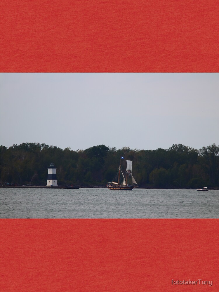 The Brigantine St. Lawerence II sails out of Erie PA  by fototakerTony