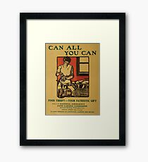 United States Department of Agriculture Poster 0092 Can All You Can Food Thrift Patriotic Gift Framed Print