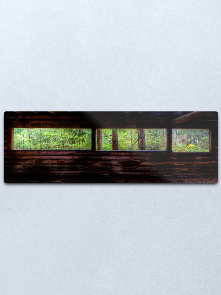 Alternate view of Mayne Island Abandoned Cabin - The View Metal Print