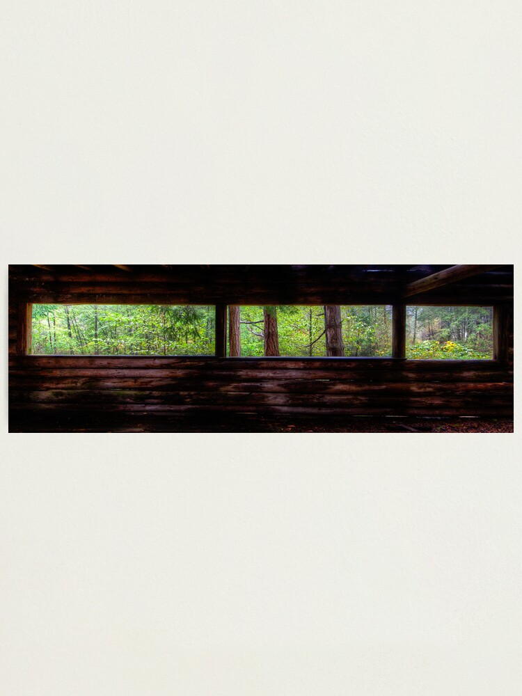 Alternate view of Mayne Island Abandoned Cabin - The View Photographic Print