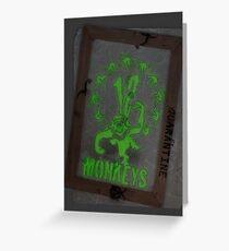 12 Monkeys Dark Greeting Card