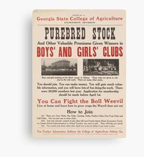 United States Department of Agriculture Poster 0059 Purebred Stock Canvas Print