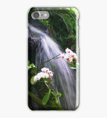 Orchids Waterfall Paradise iPhone Case/Skin