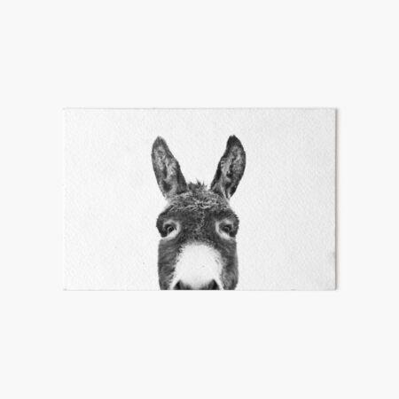 Peeking Donkey Art Board Print