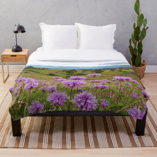Mission Mountains and Horsemint Throw Blanket
