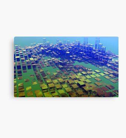 Crystal Blocks Canvas Print
