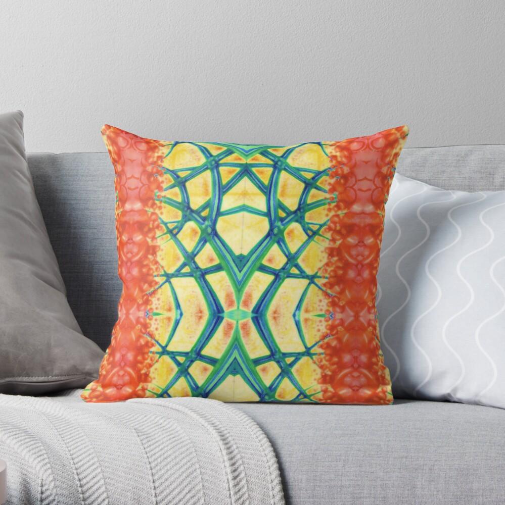Fantasy rainbow spectrum vertical patterns Throw Pillow