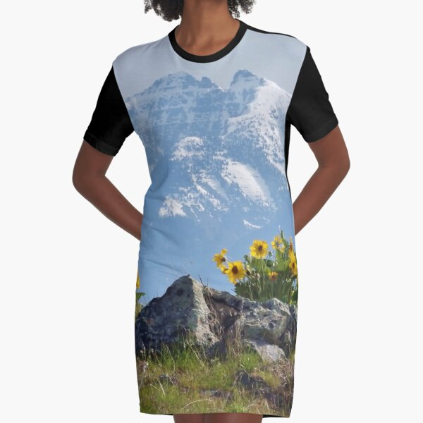 Mission Mountains Balsamroot Graphic T-Shirt Dress