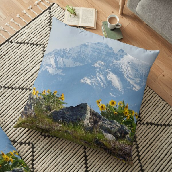 Mission Mountains Balsamroot Floor Pillow
