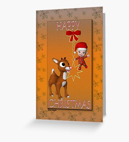 Rudolf`s Christmas Card Greeting Card