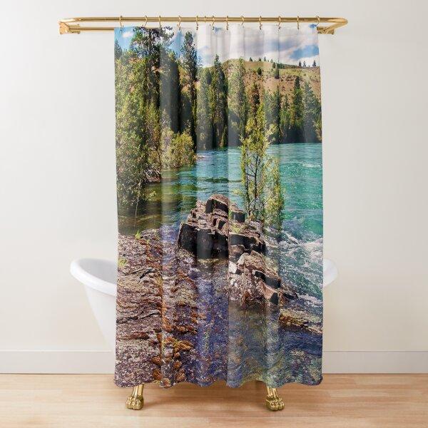 Lower Flathead River Shower Curtain