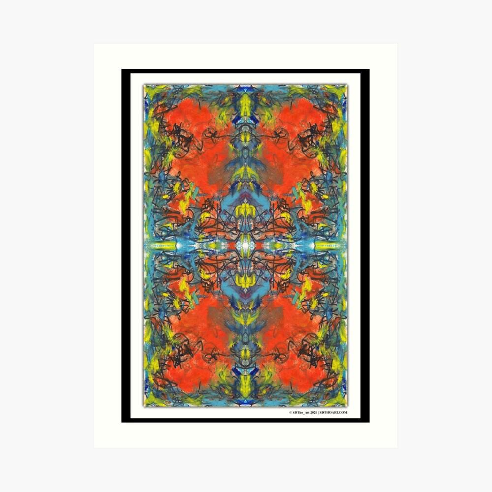 """whoa tho"" - abstract mixed media art poster - by sdtho_art Art Print"
