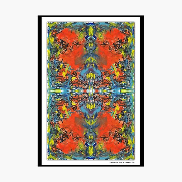"""whoa tho"" - abstract mixed media art poster - by sdtho_art Photographic Print"