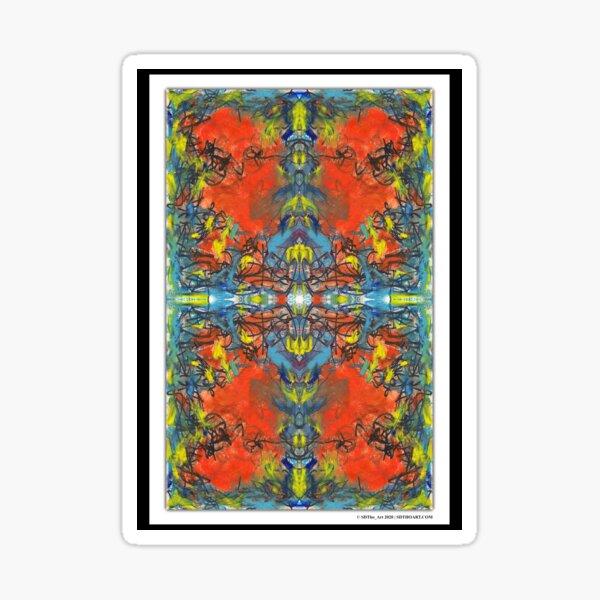 """whoa tho"" - abstract mixed media art poster - by sdtho_art Sticker"