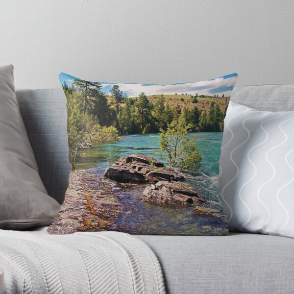 Lower Flathead River Throw Pillow