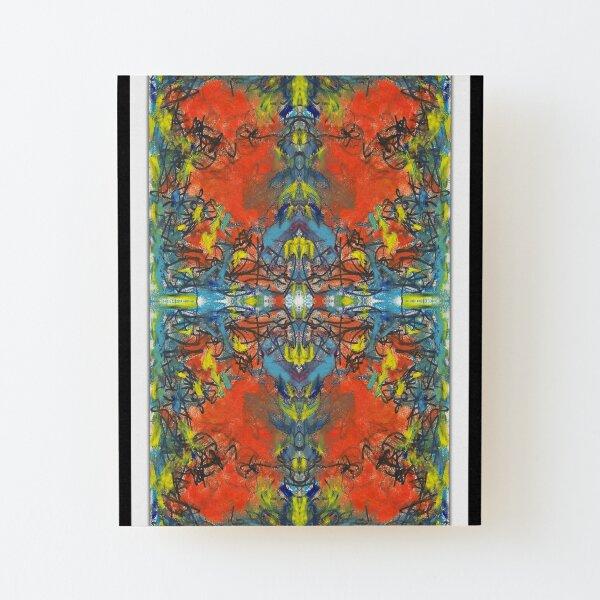 """whoa tho"" - abstract mixed media art poster - by sdtho_art Wood Mounted Print"