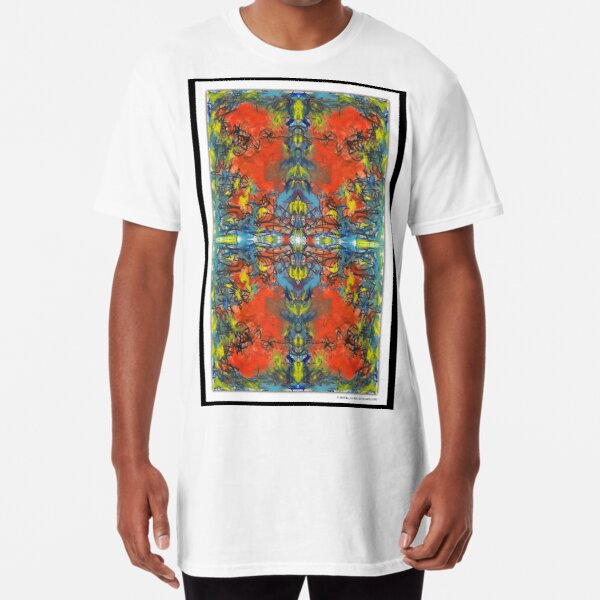 """whoa tho"" - abstract mixed media art poster - by sdtho_art Long T-Shirt"