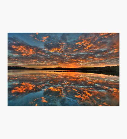 In Reflection - Narrabeen Lakes, Sydney - The HDR Experience Photographic Print