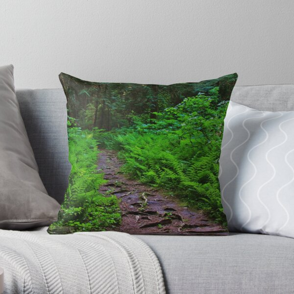 Path to the Old Cedars Throw Pillow