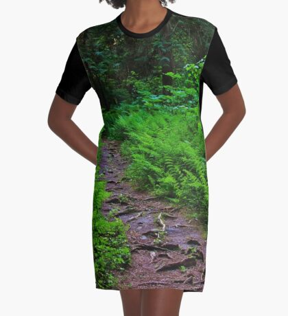 Path to the Old Cedars Graphic T-Shirt Dress