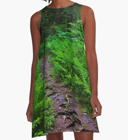 Path to the Old Cedars A-Line Dress