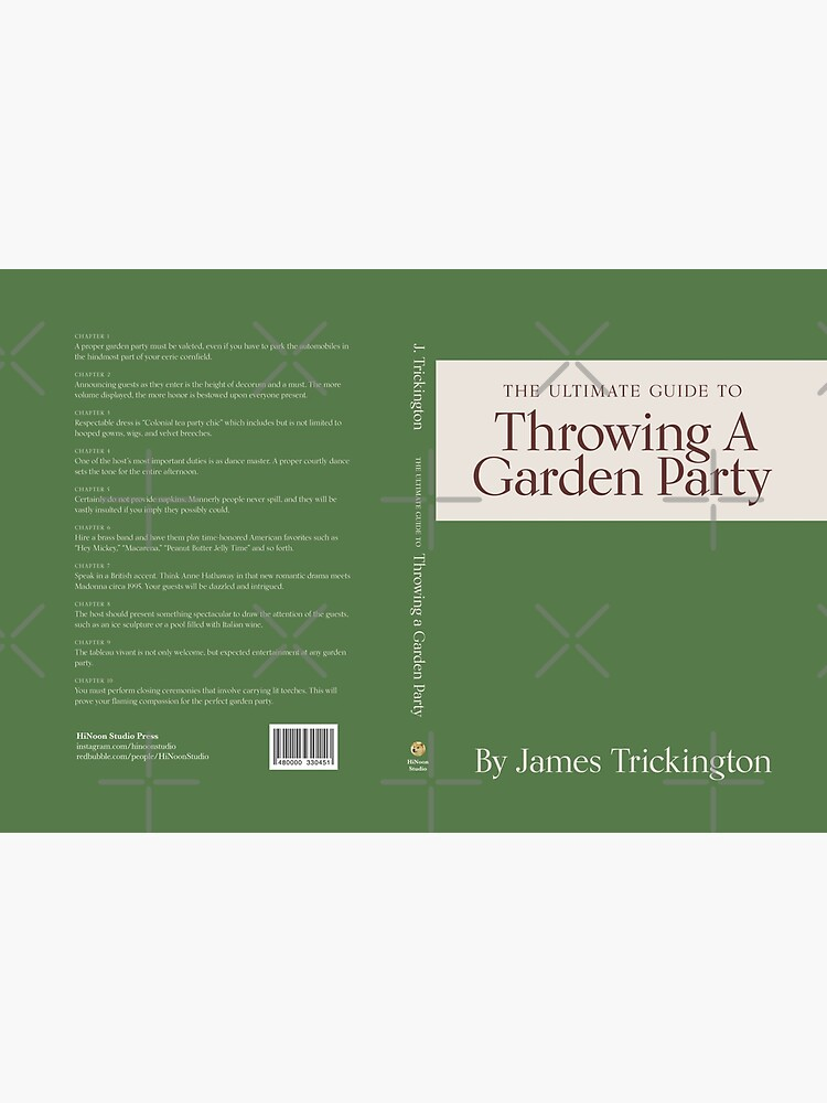 The Ultimate Guide to Throwing A Garden Party by James Trickington by HiNoonStudio