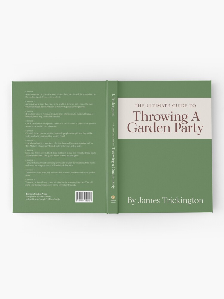 Alternate view of The Ultimate Guide to Throwing A Garden Party by James Trickington Hardcover Journal