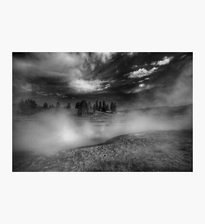 Black & White Cauldron Photographic Print