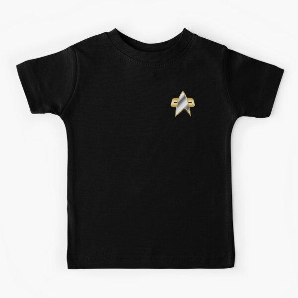Star trek Deep Space Nine Chrome Starfleet Pocket Badge Kids T-Shirt