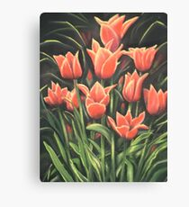 Tulips. Pastel painting. Canvas Print