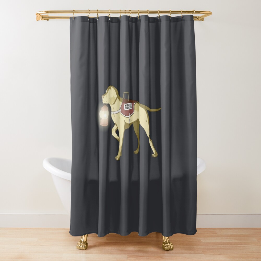 Nightmare Service Dog Shower Curtain