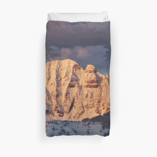 Snow Capped Missions Duvet Cover