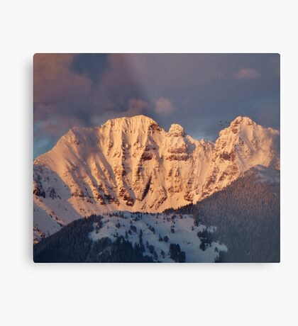 Snow Capped Missions Metal Print