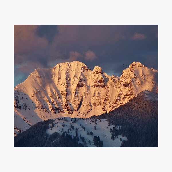 Snow Capped Missions Photographic Print