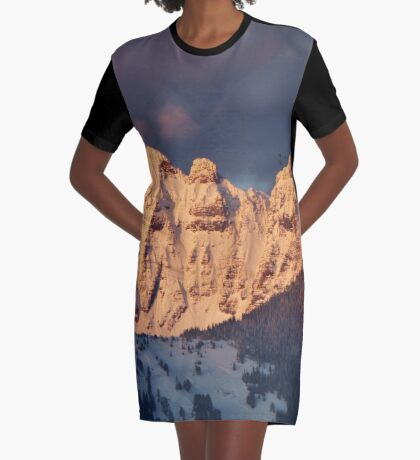 Snow Capped Missions Graphic T-Shirt Dress