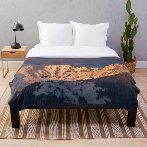 Snow Capped Missions Throw Blanket