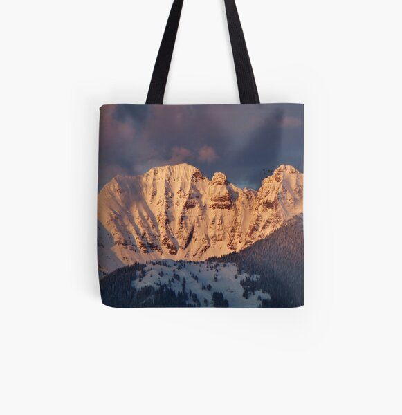 Snow Capped Missions All Over Print Tote Bag