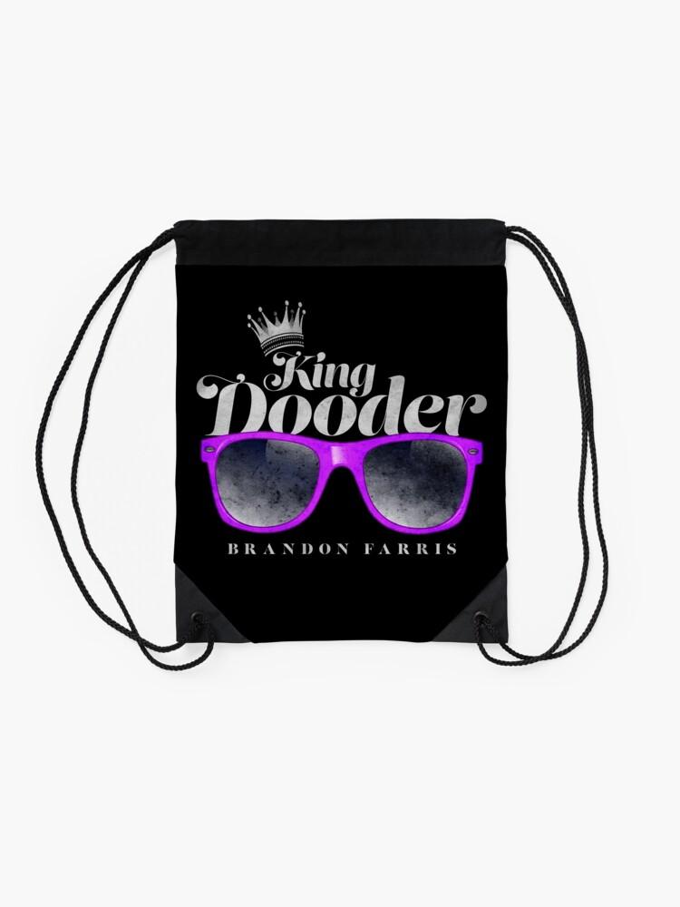 Alternate view of Brandon Farris - King Dooder Drawstring Bag