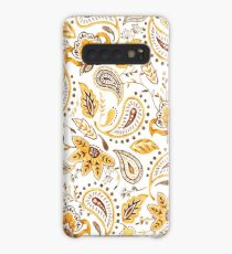 Watercolor Floral Paisley - Mustard Case/Skin for Samsung Galaxy