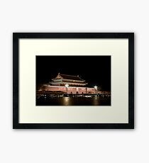 The Tian'anmen at night Framed Print