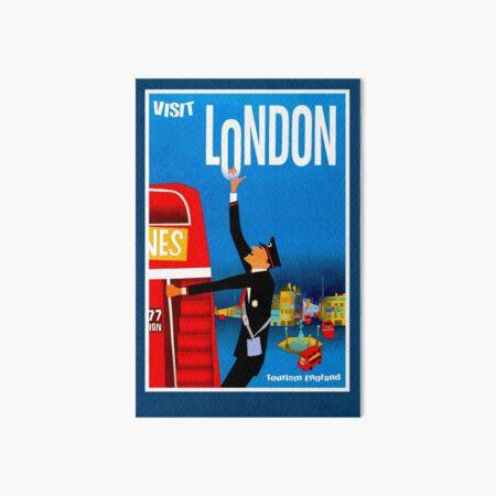 """VISIT LONDON"" Vintage Travel Advertising Print Art Board Print"