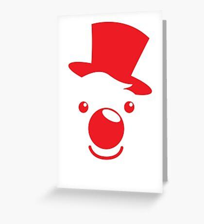 Red simple circus clown cute! Greeting Card