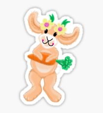 Cutie Bunny Rabbit with a carrot Sticker
