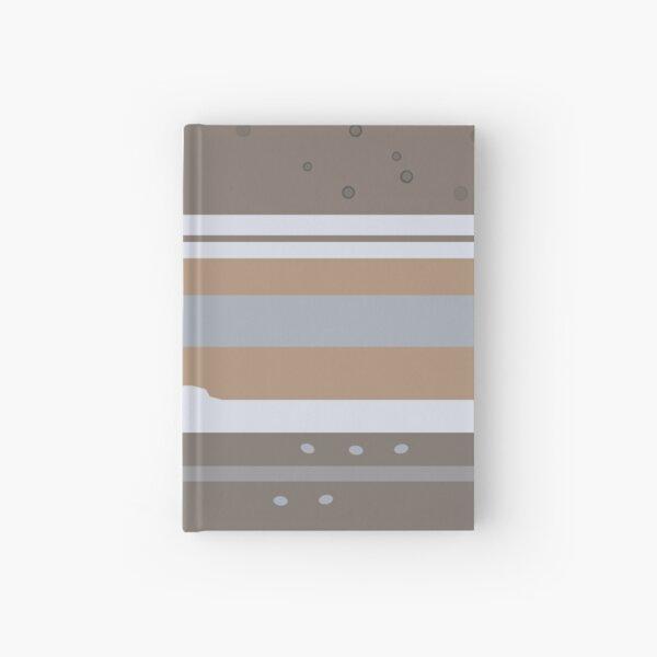 Minimal Flat Planets - Jupiter [Texture] Hardcover Journal