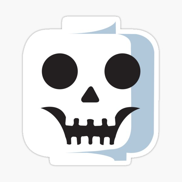 SkullLEGO head Sticker