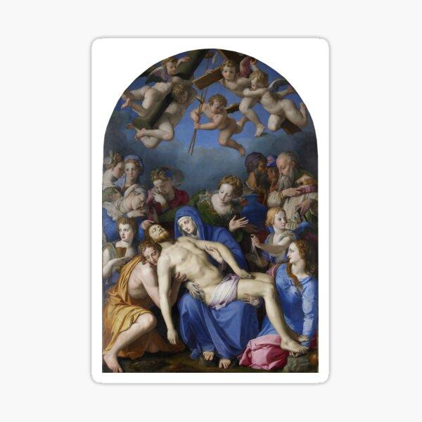 Bronzino - Desposition of Christ - Circa 1545 - Oil on Panel Sticker