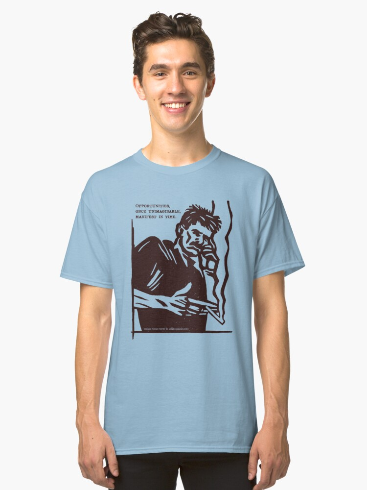 Alternate view of Mobile Phone Poetry Classic T-Shirt