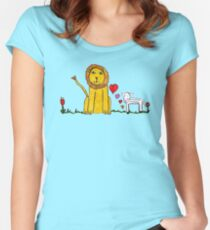 Tane's Lion and Lamb Women's Fitted Scoop T-Shirt