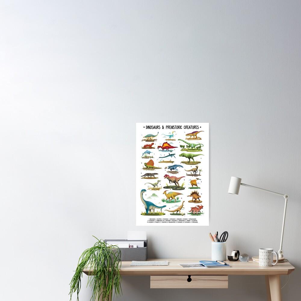 Dinosaur Poster for Kids Poster