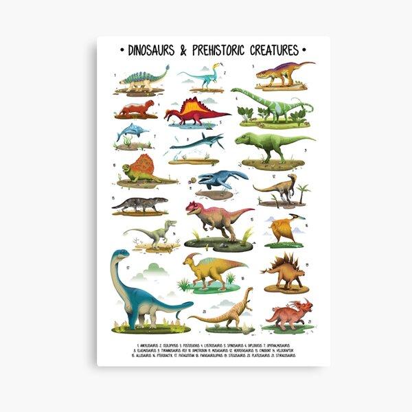 Dinosaur Poster for Kids Canvas Print